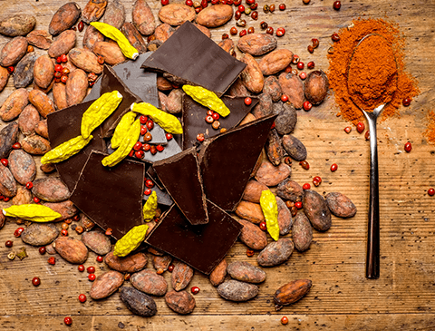 Schokolade Gewürze